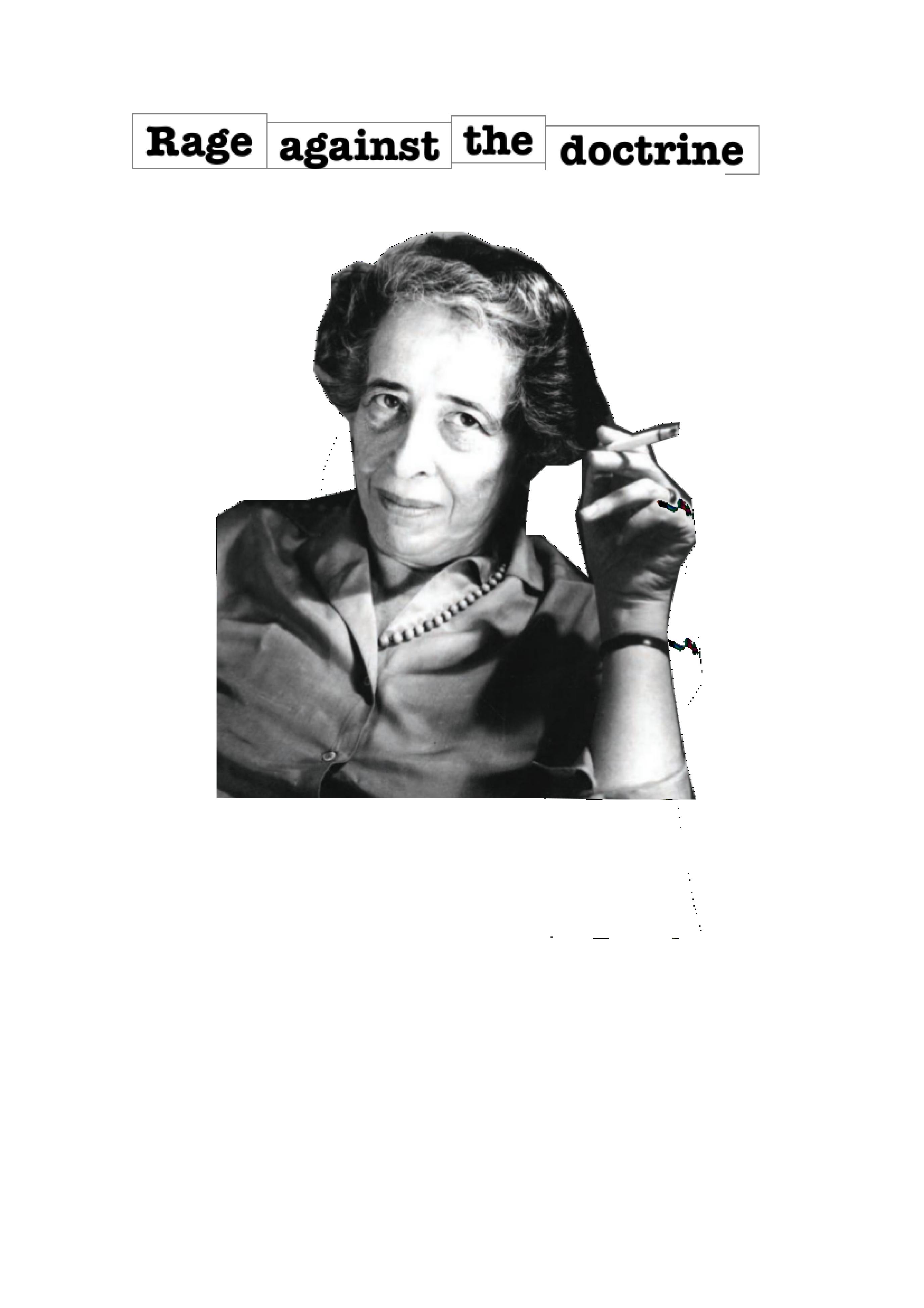 Hannah Arendt T-Shirt fertig